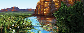 Illustration of Northern Territory Landscape