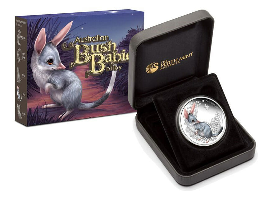 Australian Bush Babies Bilby coin and packaging