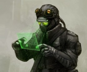 Military Hacker concept