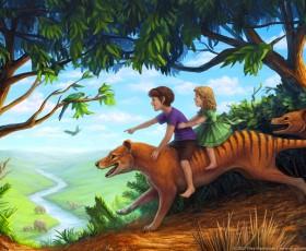 Thylacine postcard