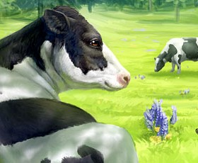 Rock Ridge Dairy cow illustration