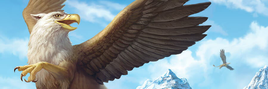 Mythical Creatures Coin Illustrations: Griffin