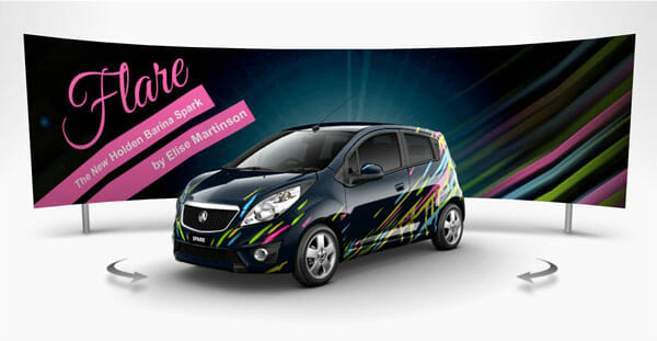 Holden barina spark entry flare by elise martinson