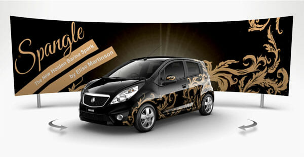 Holden barina spark entry spangle by elise martinson