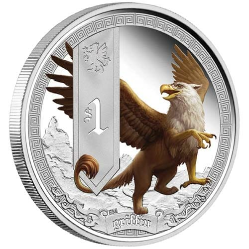 Mythical Creatures Griffin 1oz Silver Coin