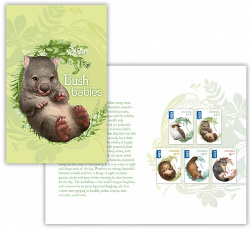 Bush_Babies_II_Stamps_by_Australia_post_Elise_Maritnson_stamp_Pack