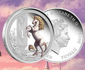 Mythical Creatures coin series: Unicorn released