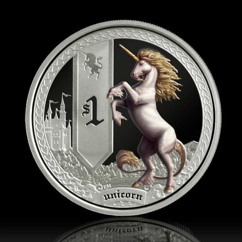 Mythical Creatures silver coin series coin reverse photograph