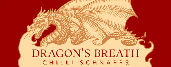 Dragon's Breath schnapps label