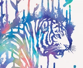 Watercolor Tiger Tee