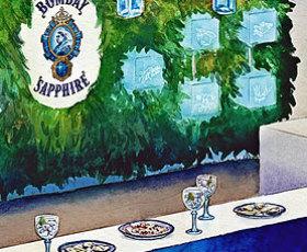 Bombay Sapphire Pop-Up Bar illustration