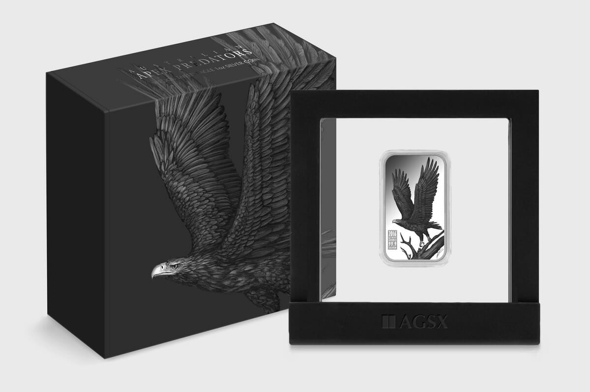 Wedge-tailed eagle coin design and packaging