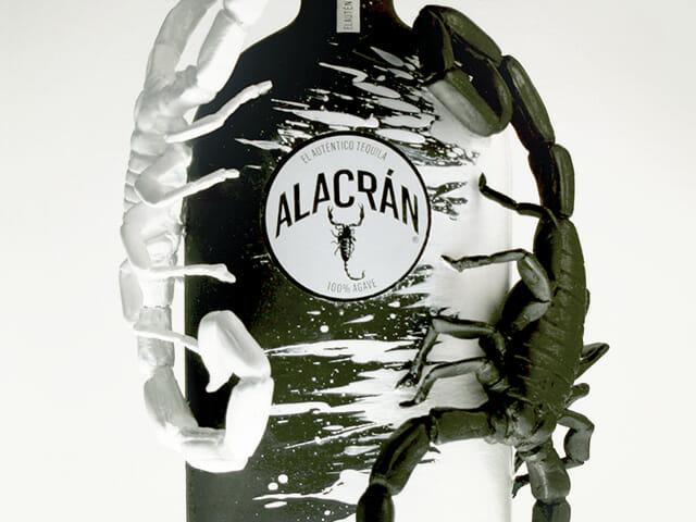 Alacran bottle sculpture