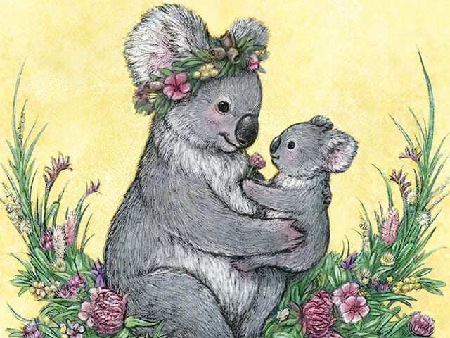 Koala Mother's Day greeting card