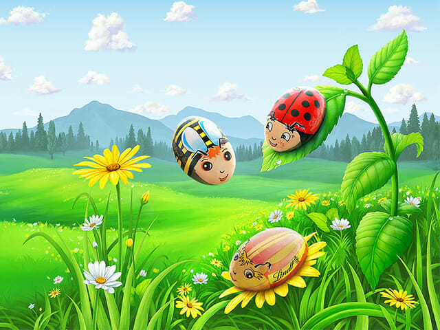 Lindt & Sprungli Easter illustrations