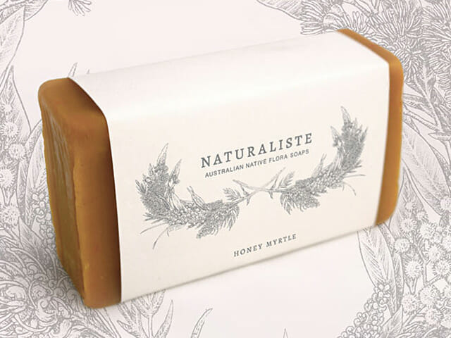 Botanical illustration for soap packaging