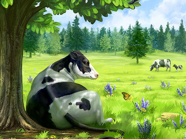 Rock Ridge Dairy milk label illustrations