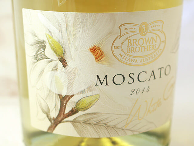 Brown Brothers Moscato label