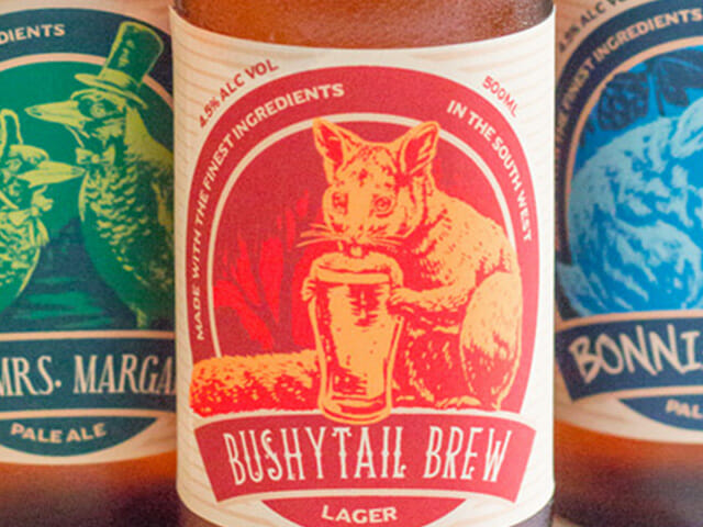 Bushcritters Brewery beer labels