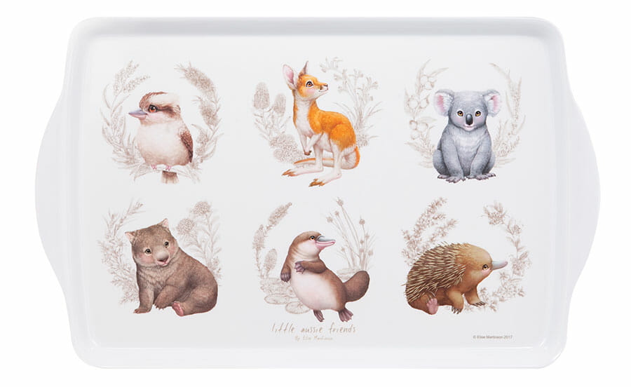 Picture of Little Aussie Friends article showing baby Australian animal tableware tray photo